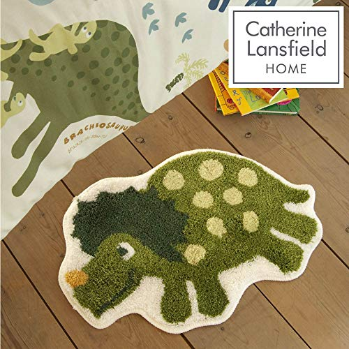 Catherine Lansfield Kids - Tappeto scendiletto per bambini, motivo: dinosauri