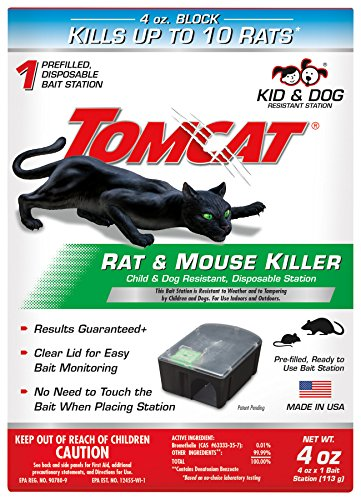 Tomcat Rat and Mouse Killer Disposable Station for Indoor/Outdoor Use - Child and Dog Resistant (1...