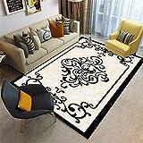 Kunsen Alfombra habitacion Bebe alfombras oficinas Beige Rectangular Alfombra Sala de Estar Decoración de decoración Anti-Slip RESE Comedor 180x280cm 5ft 10.9' X9ft 2.2'