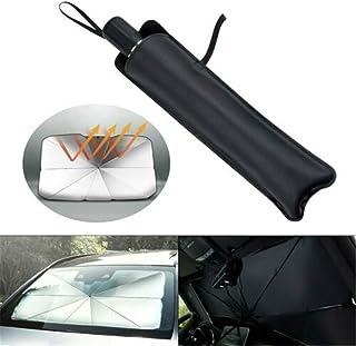 SANON Ventana del Coche Parasol Pantalla Parabrisas Protector de Cubierta de Bloque UV Visera Parasol 220 80Cm