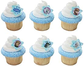 DecoPac Frozen Adventure Friends Cupcake Rings (12 Count)