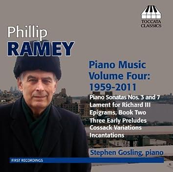Ramey: Piano Music, Vol. 4 (1959-2011)