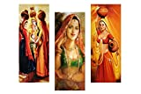 SAF Modal Set Of 3 Rajasthani Ladies, Multicolour, 3 Piece