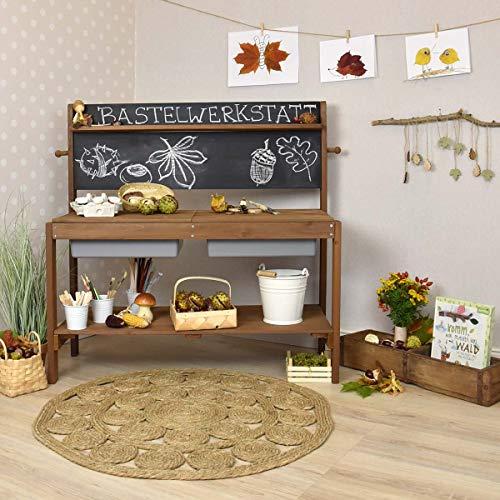 Meppi Matschküche Kleiner Gärtner, braun aus Holz, Outdoor-Küche - 9