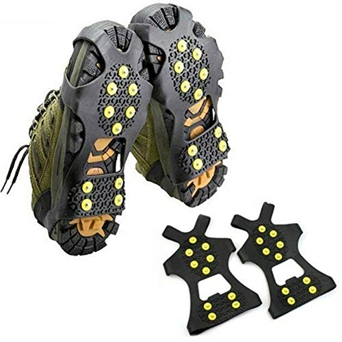 None Brand 10 Bolzen Ice Gripper Spike Anti-Skid (1 Paar) Kletterschuh Spikes Stollen (L)