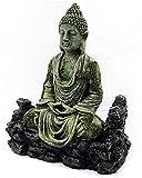 JJDSN Individualidad Resina Antigua Estatua de Buda de imitación ruinas Acuario Ornamento decoración del Tanque de Peces