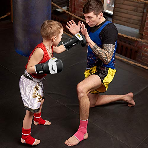 Hawk Sports Kids Boxing Gloves for Kids Children Youth Punching Bag Kickboxing Muay Thai Mitts MMA Training Sparring Gloves (Black, 4 oz)