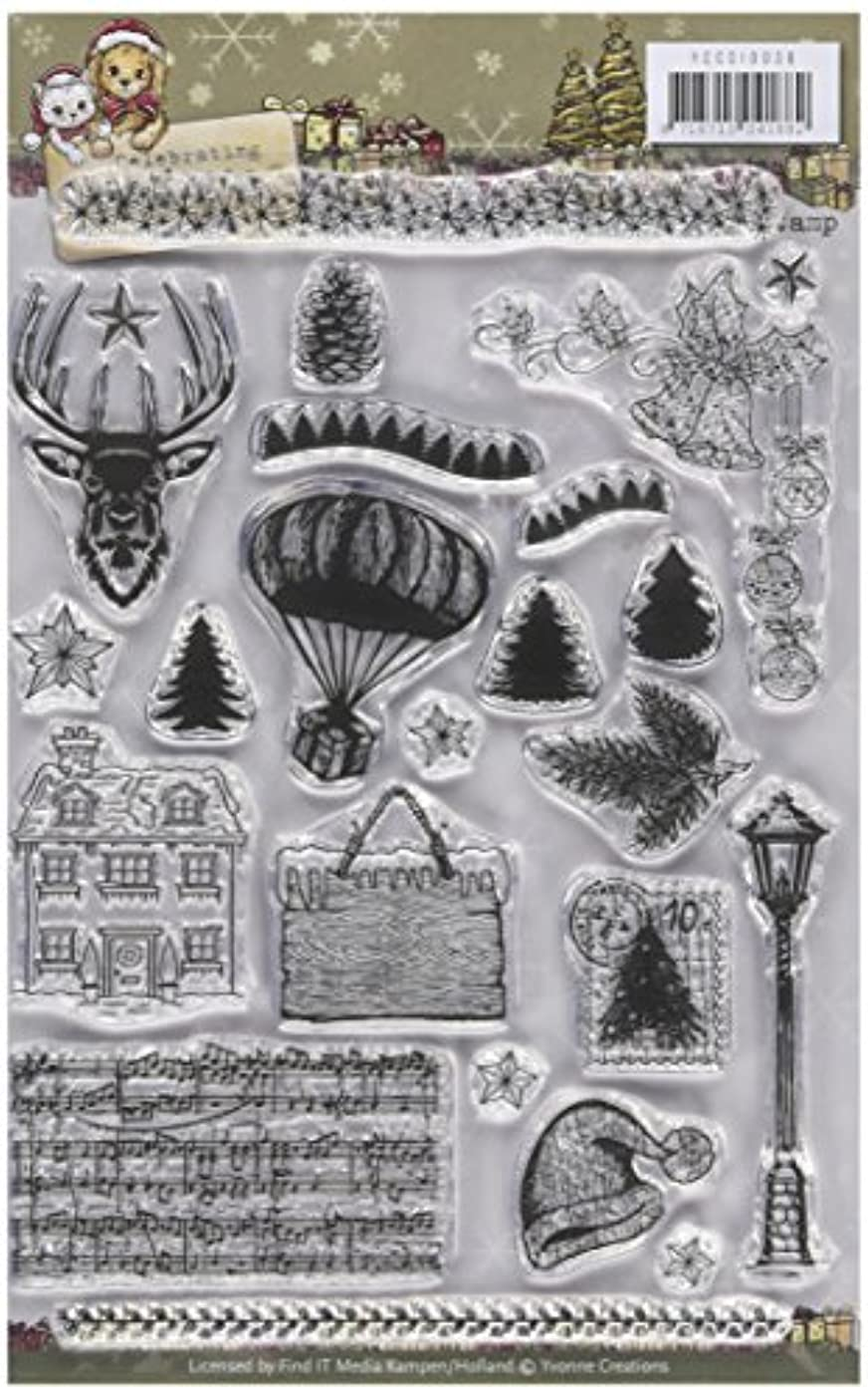 Find It Trading Yvonne Creations Celebrating Christmas Clear Stamp