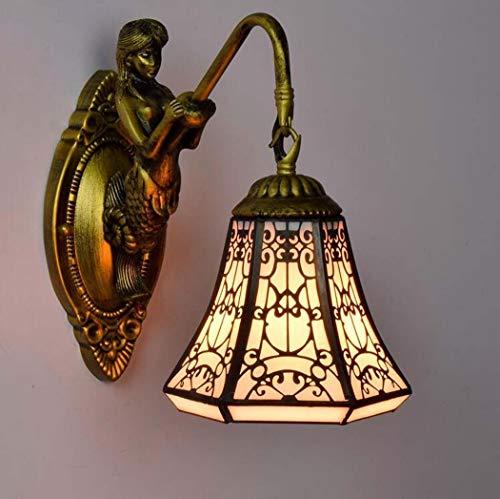 Lage prijs tafellamp bedlampje kristallen kroonluchter hanglamp plafondlamp wandspot wandlamp, Europese creatieve glasverf koper mesh art wandlamp, arab halal stijl zeemeermin Een