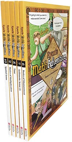 Ryan s Math 5 Volume Set Volumes 6 to 10 Measurement Arithmetic Sense Time Multiplication Spatial product image