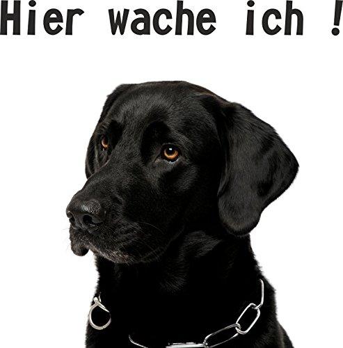 wodtke-werbetechnik hondenschild Hier wakker ik labrador zwart