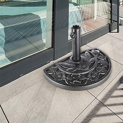 Urban Design Soporte semicircular de pared para sombrilla, diseño de flores, resistente a la intemperie