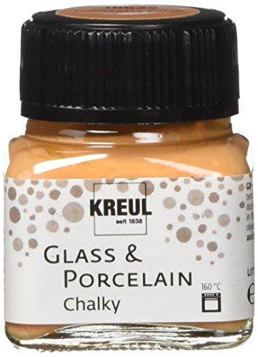 Kreul 16633 - Glass & Porcelain Chalky Terracotta Earth, 20 ml Glas, sanft - matte Glas- und Porzellanmalfarbe auf Wasserbasis, schnelltrocknend, deckend