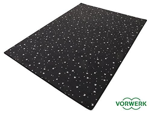 HEVO Vorwerk Bijou Stars schwarz Teppich   Kinderteppich   Spielteppich 200x250 cm Sonderedition