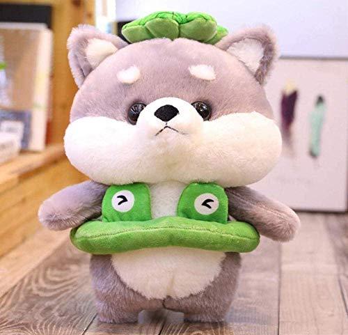 APcjerp Transformé Chenet Meng Deux Ha Poupée en Peluche Jouets Chiot poupée Steamy Cadeau 35cm Gris Frog 0,4 kg Hslywan