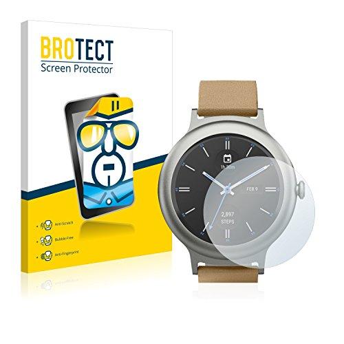 BROTECT Schutzfolie kompatibel mit LG Watch Style (2 Stück) klare Bildschirmschutz-Folie