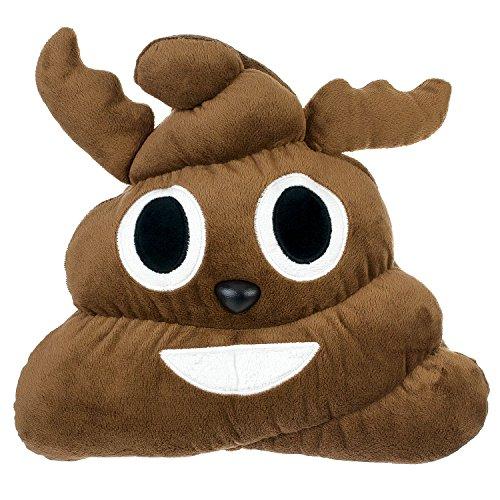 Emojicon Emoji Poop Christmas Reindeer Stuffed Plush Pillow
