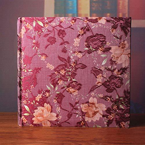 FSDFASS Álbumes de Fotos Álbum Creativo de Gran Capacidad para Escribir, Cloth Art Classic Insert Album- Lovers Baby Souvenir Album- 6 Pulgadas 200 Bolsillos, 1
