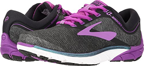 Brooks Womens Purecandence 7 Fabric Low Top Lace, Black/Purple/Multi, Size 7.5