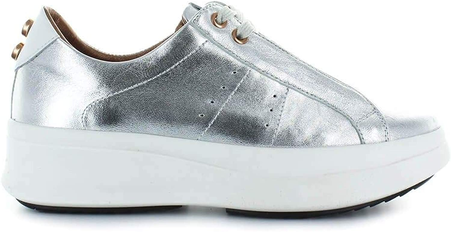 ALEXANDER SMITH Women's A43143SILVER Silver Leather Sneakers