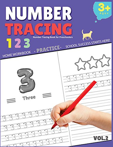 Number Tracing Book for Preschoolers: Number Tracing Book for Preschoolers, Number tracing books for kids ages 3-5, Number tracing workbook, Number Writing Practice Book (Volume 2)