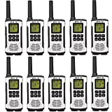 Retevis RT45 Walkie Talkies Rechargeable Long Range FRS VOX AA Battery Flashlight Call Tone Roger Beep Sub-Ch Monitor Two Way Radio(10 Pack)