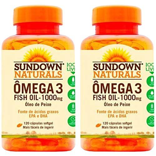 Ômega 3 Fish Oil - 2 unidades de 120 Cápsulas - Sundown