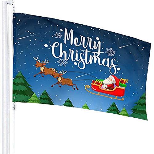 Niet van toepassing Fade Resistant Outdoor Vlaggen, Windward Vlag,Banner Breeze Vlag,Vrolijk Kerstmis Sinterklaas Met Polyester Vlag,Home Flag Tuinvlag,3'X5'Ft