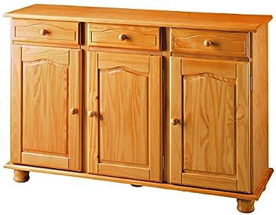 Fabricado en madera maciza de pino, estilo rustico para un mueble bonito y resistente Cajones con guias plásticas de fácil extracción Contienen instrucciones de montaje en su interior Color miel en el que se aprecia la veta de la madera Tirador de ma...