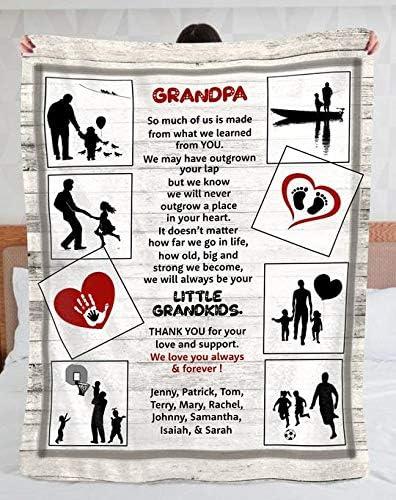 Personalized 定番キャンバス ランキングTOP10 Blanket Grandpa Gift