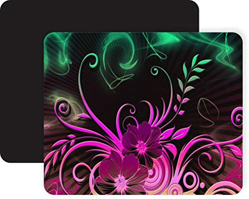 Beautiful Neon Pink and Green Background Non-Slip Mouse Pad Gaming Mouse Pad Mousepad Mousemat