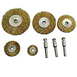BRUSH HOUSE Polishing Wheel for Woodworking Buff Buffing Glazer Wood Carving Tools DIY Tools for Dremel Deburring Tool Wire Brush Disc - 8 Piece