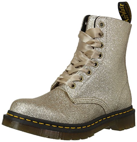Dr. Martens 1460 Pascal, Stivaletti Donna, Oro (Gold Glitter Pu 714), 38 EU