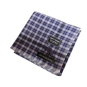 [バーバリー]BURBERRY 紳士 ハンカチ ホースマーク刺繍 紫チェック