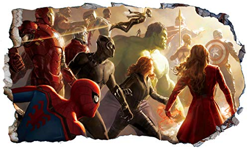 Avengers Civil War Superhero V102 Magic Window Wall Sticker Selbstklebendes Poster Wall Art Größe 1000 mm breit x 600 mm tief (groß)