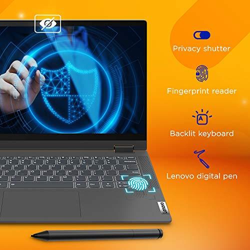 Lenovo IdeaPad Flex 5 11th Gen Intel Core i3 14-inch FHD IPS 2-in-1 Touchscreen Laptop (8GB/256GB SSD/Win 10/Office 2019/Lenovo Digital Pen Stylus/Fingerprint Reader/Graphite Grey/1.5Kg), 82HS008YIN
