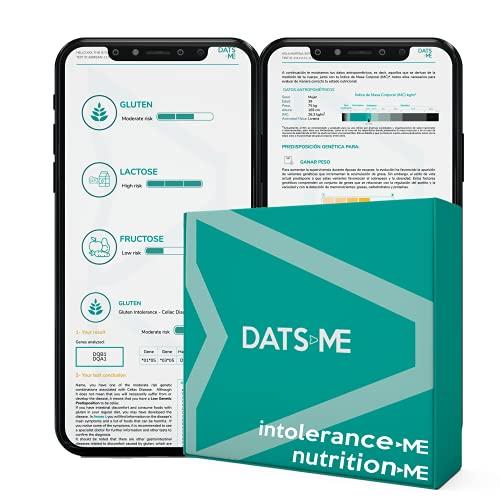 DATS ME – Pack de IntoleranceMe y NutritionMe, Test Genético de Nutrición Personalizada e Intolerancia Alimentaria, Incluye Kit de ADN