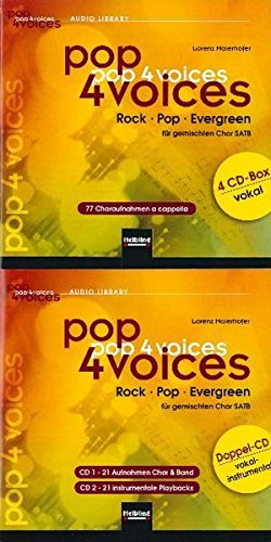pop 4 voices: Rock - Pop - Evergreen. CD-Gesamtpaket (4er CD-Box vokal und Doppel-CD vokal-instrumental)