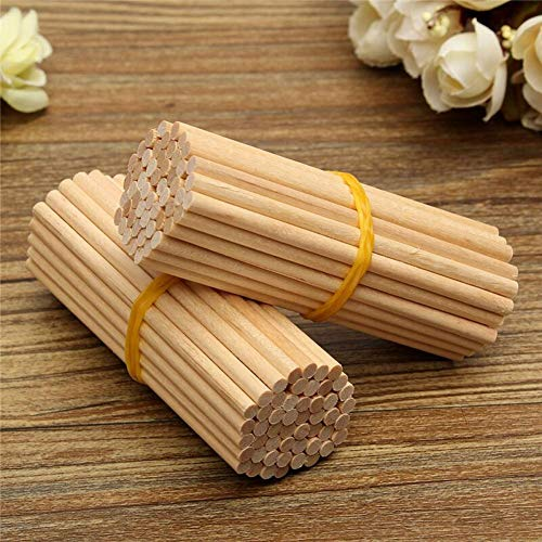 100pcs Redondas Palillos De Madera Lollipop del Helado Sticks Crafts para Bricolaje...