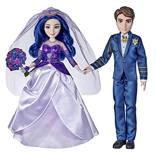 Disney Descendants Mal and Ben Dolls, Inspired by Disney The Royal Wedding: A Descendants Story, Toys Include Outfits, Shoes, and Fashion Accessories