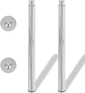 vidaXL 2 Patas Telescópicas para Mesa regulables en altura 710mm-1100mm de Color Cromo
