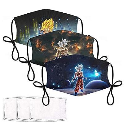 Kids Face Mask Dragon Ball Z Mask Anime Goku Drangonball Z Toys from RIVASPSM