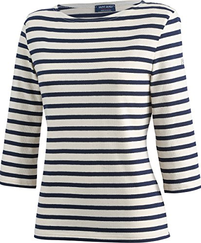 Saint James Huitriere III - Streifenshirt - Bretagne-Shirts Ecru-Navy (42 (T44))
