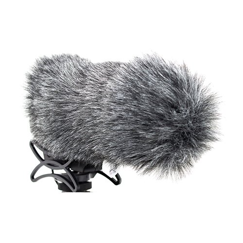 Azden SWS-30 - Parabrisas de micrófono Peludo para SMX30, Color Gris