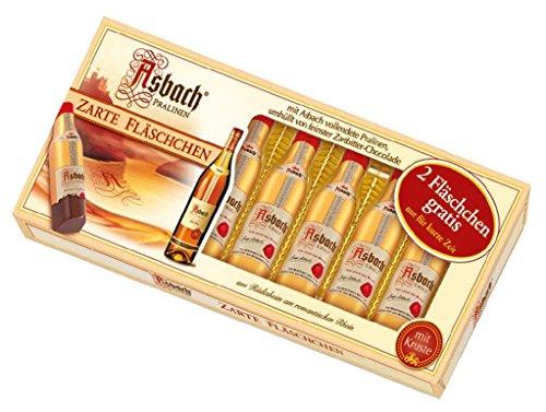 Asbach Pralinen Zarte Fläschchen mit Kruste und Weinbrand Füllung