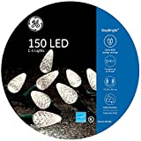 ge c5 led christmas lights - GE StayBright 150-Count 37.25-ft Constant Warm White C5 LED Plug-in Indoor/Outdoor Christmas String Lights