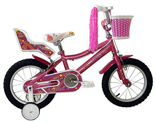 "Umit Bicicleta 14"" Lydia, Niñas, Rosa, Infantil"