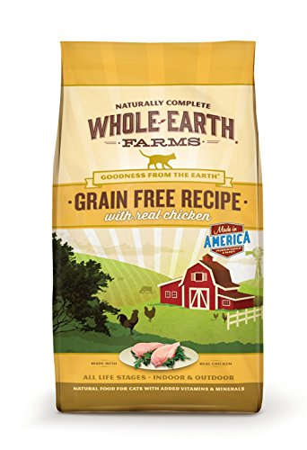 Whole Earth Farms Grain Free Recipe Dry Cat Food, Chicken, 10 Lb