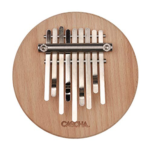 CASCHA Kalimba, Daumenklavier, Finger Klavier mit 9 Zungen, Pentatonisch, Made in Germany, Buche