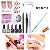 True-Ying Kit Ongles En Fibre De Verre Soie Pour Nail Art Equipement De Gel D'extension Rapide Extension...